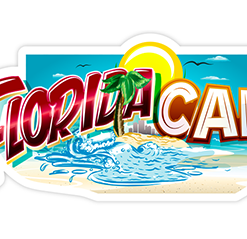 Florida Cake Sticker