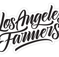 Los Angeles Farmers Sticker (Black)