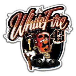 White Fire #43 Sticker
